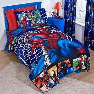 Amazon Spiderman Boys Twin Comforter & Sheet Set 4 Piece Awesome Spiderman Bedroom Furniture Decorating Design