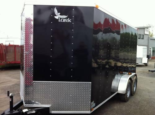 BRAND NEW 2013 BLACK 7 x 14 +V-nose Enclosed Cargo Trailer for Sale in Broken Arrow, Oklahoma ...