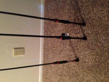Brand New 3 Abu Garcia Vendetta Spinning Rods