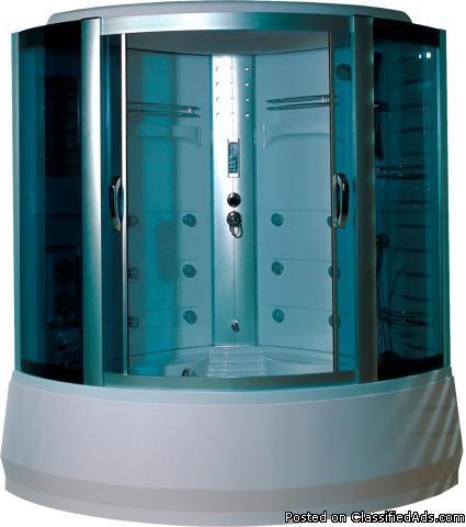 Brand New 59 In Shower Enclosure W Radio Tub Amp Foot