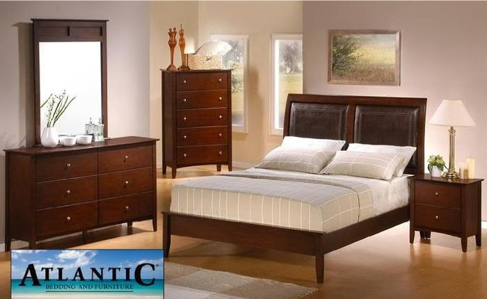 BRAND NEW 7pc Ashley s Two Tone Leather Bedroom Set