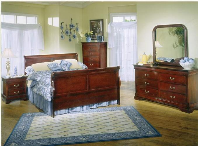 Brand New 8 Piece New Cherry Sleigh Bedroom Set,Queen ...