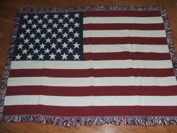 Brand New American Flag Throw - $10