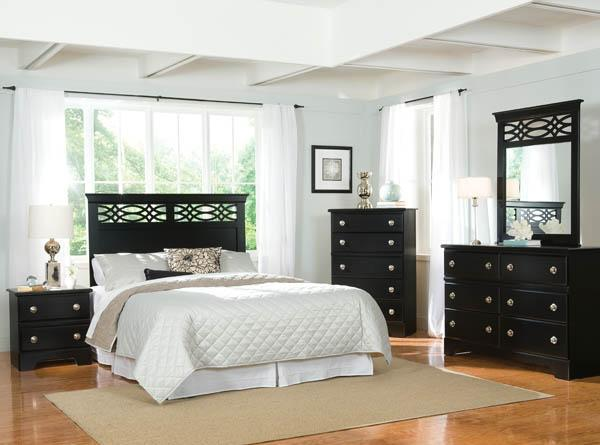 Brand New Bedroom Sets Black Or White Twin Full Queen