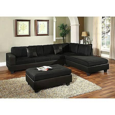 BRAND NEW BLACK MICROFIBER SECTIONAL SOFAS! )))))) - for Sale in ...