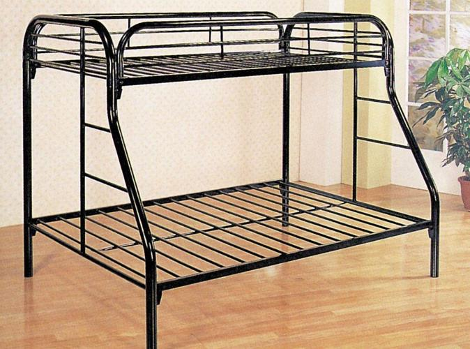 """""""BRAND NEW"""" BLACK TWIN OVER FULL BUNK BED w"""