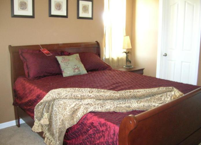 brand new complete cherry bedroom set delivery setup available for sale in denver. Black Bedroom Furniture Sets. Home Design Ideas