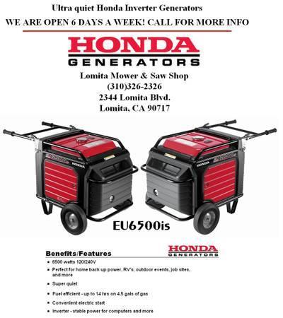 brand  euis honda generator  sale  lomita california classified americanlistedcom