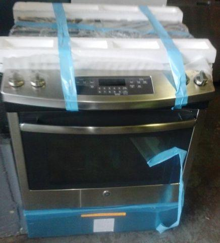 Brand New GE Slide In Stainless Steel Gas Range Only