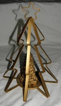 BRAND NEW Golden Christmas Tree Candle  Holder