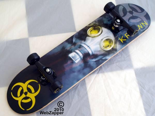 BRAND NEW KROWN BIO HAZARD COMPLETE PRO SKATEBOARD GAS