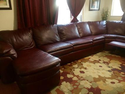 Brand New Lackawanna Sectional Leather Sofa by England