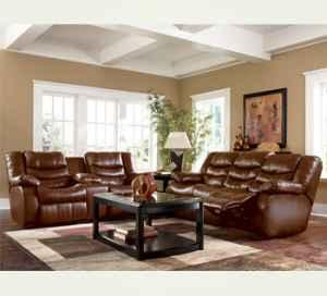 Brand New Leather Ashley Revolution Sofa And Loveseat Set