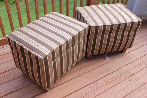Brand New Living Room Brown Round Ottoman Accent For Sale In Greensboro North Carolina