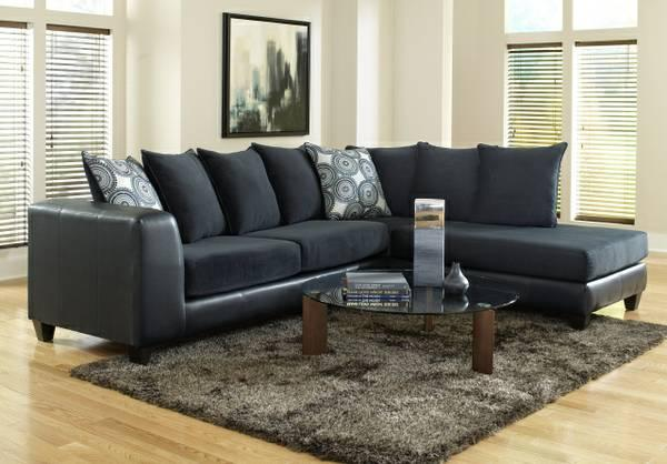 Brand New Navy Oversized Sectional W Deep Seats Huge