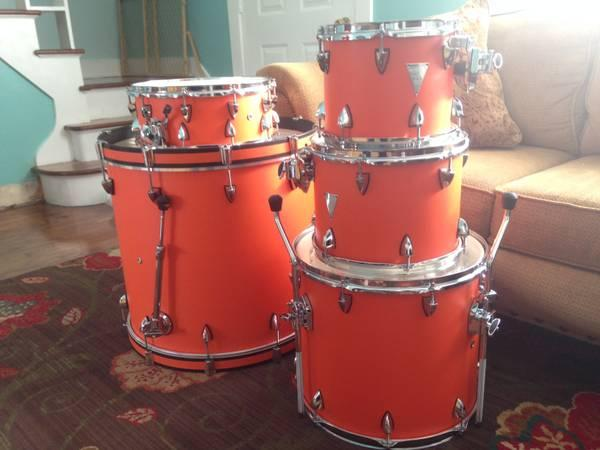 brand new orange county drums venice 5 piece shell pack bright orange for sale in ramey. Black Bedroom Furniture Sets. Home Design Ideas