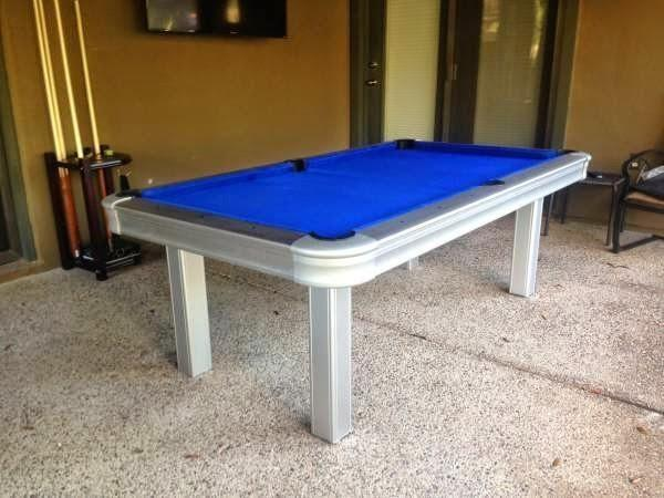 Huge Backyard Pool Table : Brand New Outdoor Pool Table with All Weather Cloth & Steel Frame for
