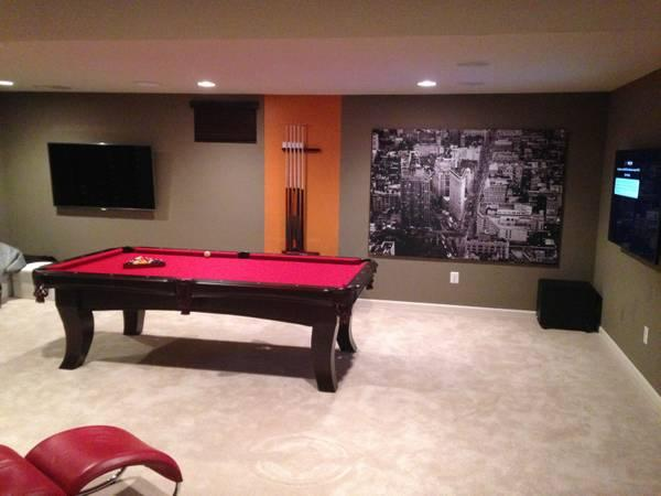 Man Cave Prices : Brand new pool table for your game room or man cave at