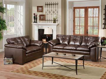 brand new simmons leather living room set avail in 2 colors harris