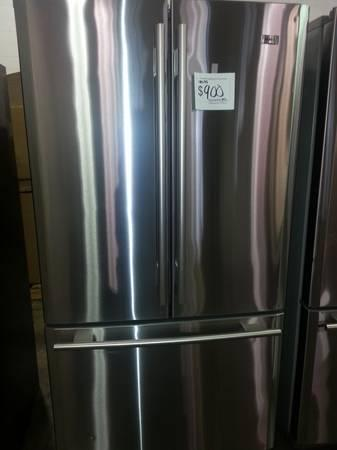 brand new stainless steel french door refrigerator for sale in indianapolis indiana. Black Bedroom Furniture Sets. Home Design Ideas