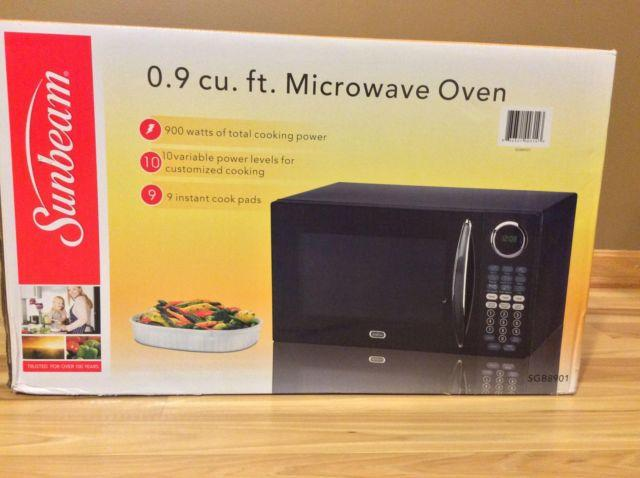 Brand New Sunbeam Sgb8901 Microwave Oven 0 9 Cu Ft