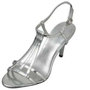 BRAND NEW - WOMENS SILVER SHOES HEELS SIZE 12 - $20