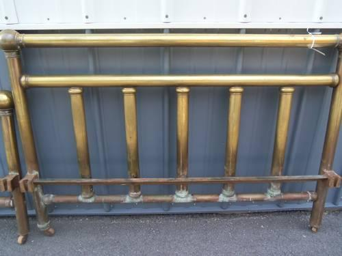 Brass Bed Full Size Antique With Side Rails Head And