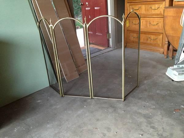 Brass Fireplace Screen - $10