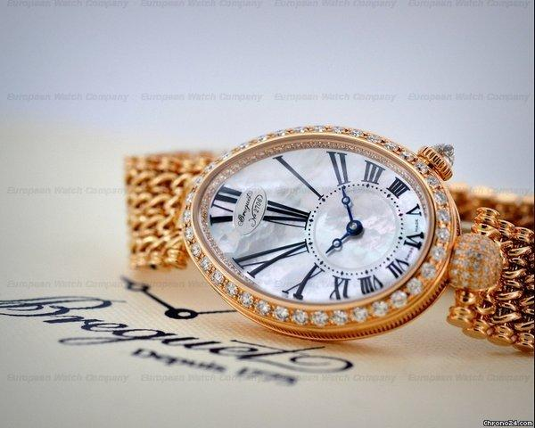 Breguet Reine De Naples Mother of Pearl 18K Rose Gold  18K Bracelet