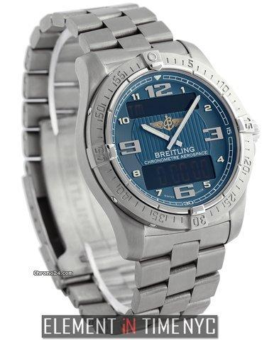 Breitling Aerospace Avantage Titanium 42mm Blue Dial Ref. E79362 Price On Request