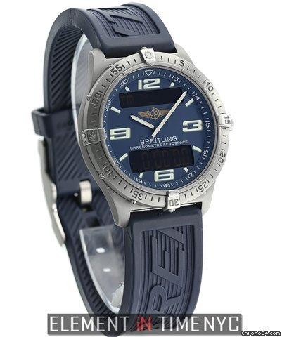 Breitling Aerospace Titanium 40mm Blue Dial Ref. E75362 Price On Request