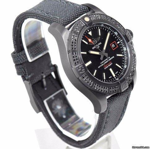 Breitling Avenger Blackbird 44 Black Titanium  Diamond Bezel V17311ATBD74109W