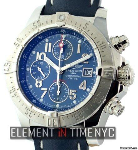 Breitling Avenger Skyland Chronograph Blue Dial Ref. A13380 Price On Request