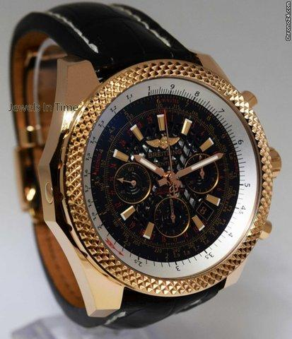 Breitling Bentley 18k Rose Gold Chronograph Watch BoxPapers 2016 RB0611
