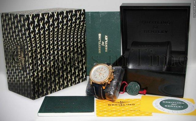 Breitling Bentley Motors 18k Yellow Gold 48mm Mens Watch BoxBooks K25362