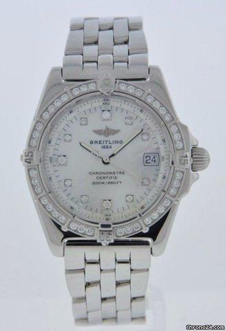 Breitling CALISTO WITH MOP DIAMOND SET DIAL  DIAMOND BEZEL - 2 YEAR WARRANT Price On Request