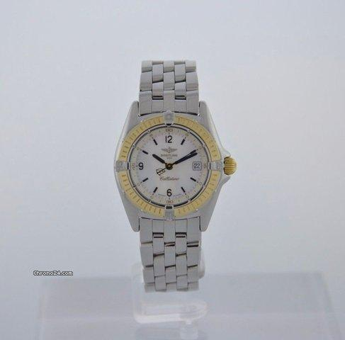 Breitling CALLISTINO MOTHER OF PEARL DIAL STEEL  18K GOLD -BOX PAPERS -WARRANTY Price On Request