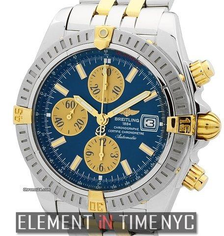 Breitling Chronomat Chronomat Evolution Steel  Gold Blue Dial Ref. B13356 Price On Request
