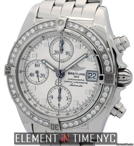 Breitling Chronomat Cockpit Windrider Steel Factory Diamond Bezel Ref. A13357 Price On Request