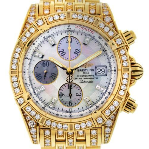 Breitling Chronomat Evolution K13356AJ All Diamond 18k