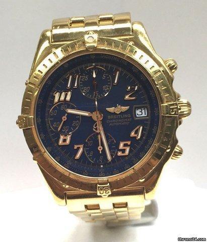 Breitling Chronomat GT 18K GoldBlue Dial