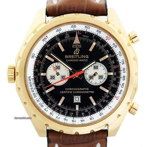 Breitling Chronomatic H41360 18K Rose Gold Limited Edition Mens Watch