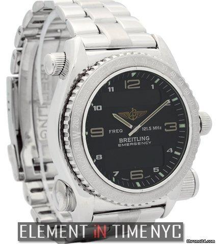 Breitling Emergency 18k White Gold 43mm Black Dial Ref. J56321 Price On Request