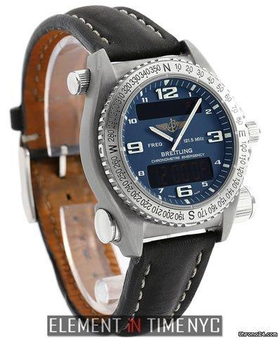 Breitling Emergency SuperQuartz Titanium 43mm Blue Dial 2011 Ref. E76321 Price On Request