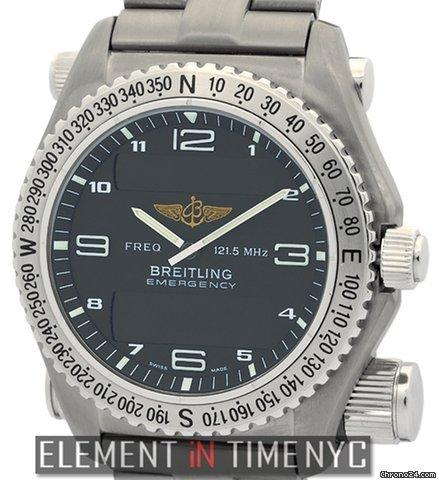 Breitling Emergency Titanium 43mm Charcoal Grey Dial Ref. E56321 Price On Request