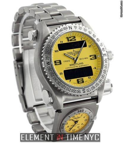 Breitling Emergency UTC SuperQuartz Titanium 43mm Yellow Dial 2006 Ref. E76321 Price On Request