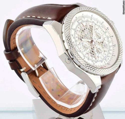 Breitling for Bentley B06 - Silver Storm on Brown Strap