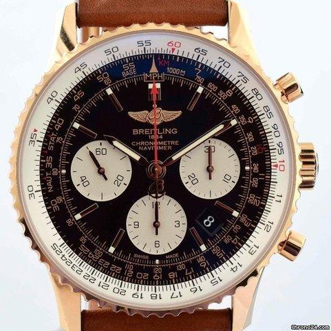 Breitling Navitimer 01 - Rose Gold  Black Dial RB012012BA49 NIB Automatic 43mm