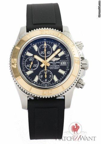 Breitling SuperOcean Chronograph - Ref. C1334112-BA84 - 44mm Stainless Steel  18K Rose Gold Bez Price On Request