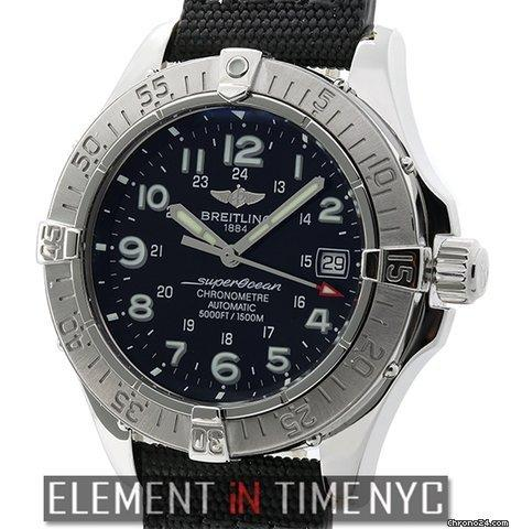 Breitling Superocean Chronometer Stainless Steel 42mm Black Dial Ref. A17360 Price On Request